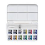 Aquarelle fine Cotman 12 demi-godets + pinceau réservoir