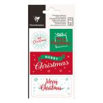 Étiquette cadeau adhésive Noël traditionnel 16 pcs