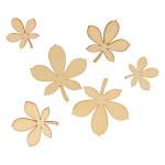 Mini Silhouettes Feuilles de marronnier - 30 pcs