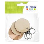 Porte-clés ronds 5 x 0,5 cm - 3 pcs