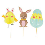 Panneau de chasse aux œufs x 6 pcs