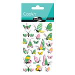 Stickers 3D Cooky papillons x 22 pcs