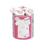 Encreur et 14 tampons Stampo textile Magical Licorne
