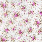 Feuille Décopatch - Bouquet sur fond blanc - 30 x 40 cm