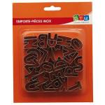 Emporte-pièces Alphabet 15 x 25 mm 26 pièces