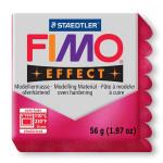 Pâte polymère Fimo Effect 56g - Rouge nacré