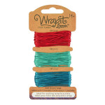 Cordons pour Bracelets Wrapit™ Loom - rouge / bleu vert / turquoise
