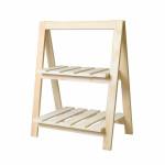 Étagère en bois 2 niveaux 25 x 41 x 51 cm