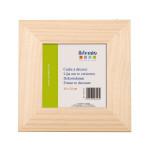 Support à décorer en bois - Cadre plat - 20 x 20 cm