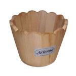 Vase en bois rond 11 cm