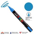 Marqueur PC-5M pointe conique moyenne - Bleu métal