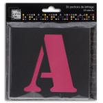 Pochoir Alphabet 9 cm A à Z