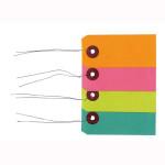 Etiquette colorées avec fil métal 50 pièces