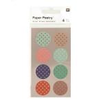 Stickers en papier Washi ronds à pois x 4 planches