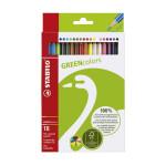 Crayon de couleur Green Colors Etui de 18 pcs