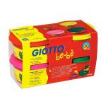 Pâte à modeler 4 pots x 100g rouge-jaune-magenta-vert