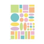Gommettes Baby géométriques couleurs pastels