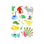 Gommettes Baby animaux Familiers