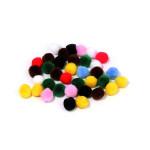 Pompons - Assortiment - 0,7 cm - 70 pces