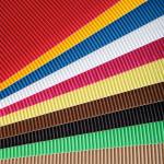Carton ondulé 50 x 35cm set de 15 couleurs