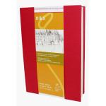 Livre à croquis format portrait couverture rouge 140g/m² - 14,8 x 21 cm (A5)