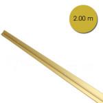 Rail cimaise anodisé Or 200 cm