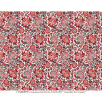 Papier Italien 50 x 70 cm 85 g/m² Paons rouges