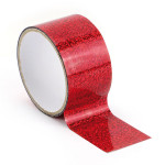 Ruban adhésif décoratif Queen Tape 48 mm x 8 m Horloge rouge