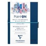 Carnet Paint'On papier à grain Blanc 250 g/m² A5 32 F