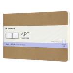 Album pour croquis Kraft papier ivoire 120 g/m² - 13 x 21 cm
