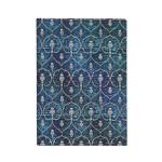 Carnet ligné Velours bleu 13 x 18 cm 120 g/m² 144 p