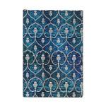 Carnet ligné Velours bleu 9,5 x 14 cm 85 g/m² 176 p