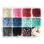 Perle rondelle Heishi 3 mm Mix couleurs Naturelles + Accessoires