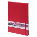 Carnet de croquis Rouge 140 g/m² 80 feuilles - 12 x 12 cm