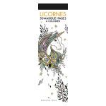 Marque-pages à colorier Licornes