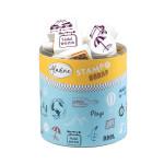Encreur et 46 tampons Stampo Scrap Voyage